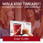 Win a $10 $50 or $500 TimCard - Raven5 Media