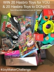 Win 20 Hasbro Toys for YOU + 20 Hasbro Toys to Donate - A Day In Motherhood