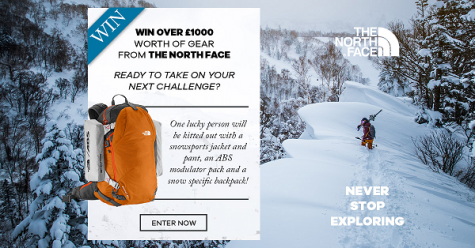 Win £1000 worth of The North Face gear - SurfDome