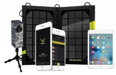Win Apple iPad Mini tablet solar charger and camera system - Rēkon