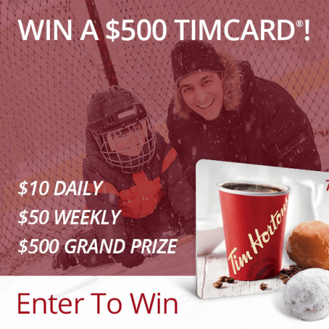 Win a $10 $50 or $500 TimCard - Black Flag Deals