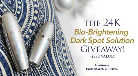 24K Bio-Brightening Dark Spot Solution Giveaway - OROGOLD Cosmetics