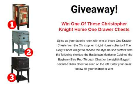 Christopher Knight Home One Drawer Chest Giveaway - Christopher Knight Home