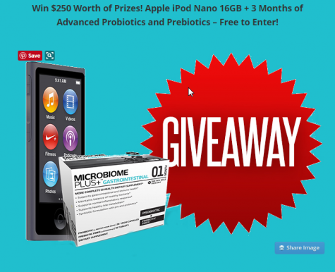 iPod and Probiotic Giveaway - Microbiome