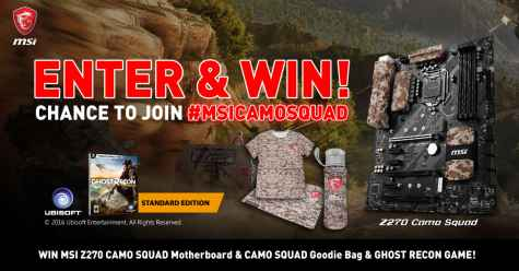 Win MSI Z270 CAMO SQUAD Gaming PC Motherboard and more - MSI