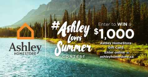 $1000 Ashley HomeStore Gift Card Giveaway - Ashley HomeStore