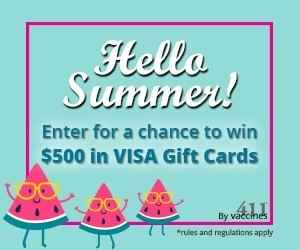 $100 Visa Gift Card Contest - Vaccines411