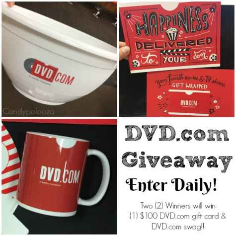 $100 DVD.com GC & Swag US 6/4 - Candy Po