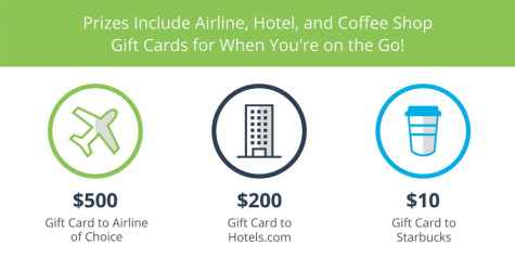$500 Airline Gift Card Giveaway - McAfee Safe Connect