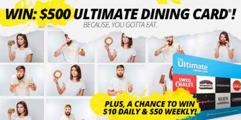Win a $10 $50 or $500 Ultimate Dining Card - Black Flag Deals