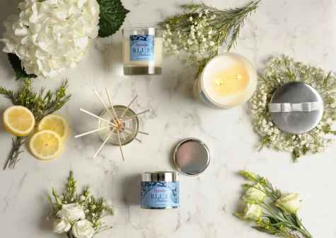 Portmeirion Blue Italian Florals 2 Wick Glass Candle Giveaway - Portmeirion