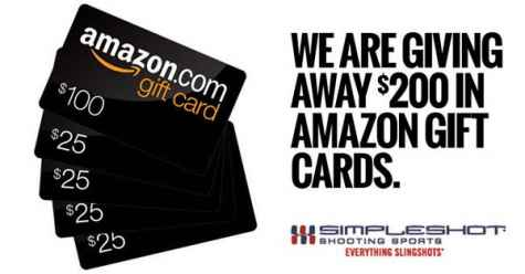 Win a $100 or 4x $25 Amazon gift cards - SimpleShot
