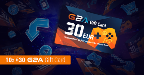Win 1 of 10x 30€ G2A GiftCards - G2A