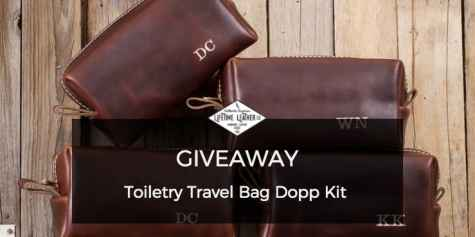 Toiletry Travel Bag Dopp Kit Giveaway - Lifetime Leather
