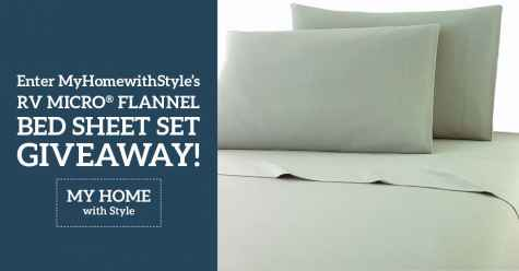 Enter for a chance to win a set of Micro Flannel RV Bed Sheets - MyHomewithStyle.com