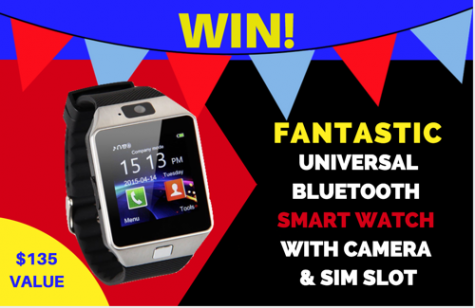 Win A Bluetooth Smart Watch - GCMcGillivray and @appzthatrock
