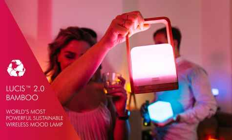 Lucis 2.0 Bamboo Wireless Mood Light Giveaway - Lucis Wireless Lighting