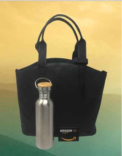 Lululemon® All Day Tote Mini Bota Blue™ Stainless Steel Water Bottle and a $25 Amazon.com Gift card Giveaway - Bota Blue Giveaway