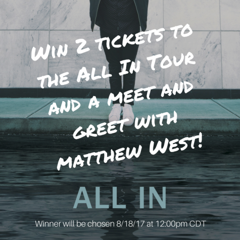 "Win 2 free tickets for Matthew Wests All In"" Tour - popwe"