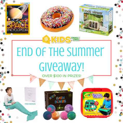 End Of The Summer Giveaway - Kids Email
