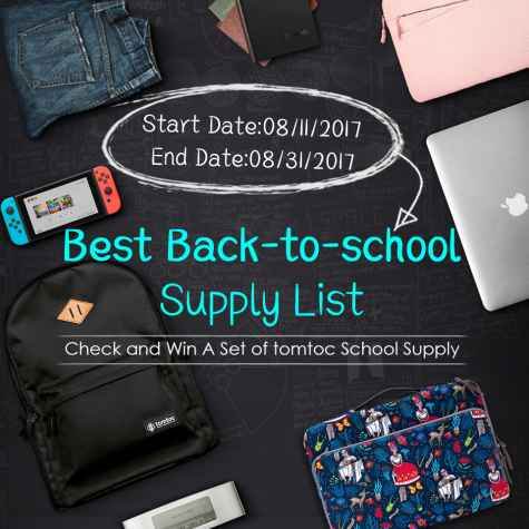 Back To School Gift Bundle Giveaway - Tomtoc Marketing