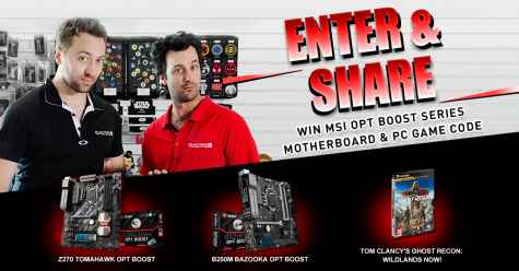 Win 4x MSI PC motherboards and 40x PC games - MSI