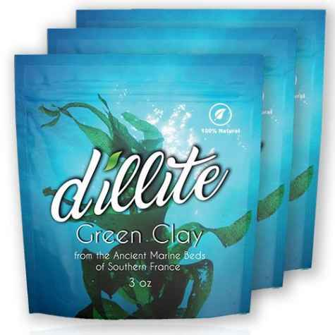 Dillite Green Clay Face Mask 3-Pack - Dillite