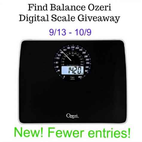 Find Balance Ozeri Digital Scale Giveaway ends 10-9 New Fewer Entries! - Hints and Tips Blog