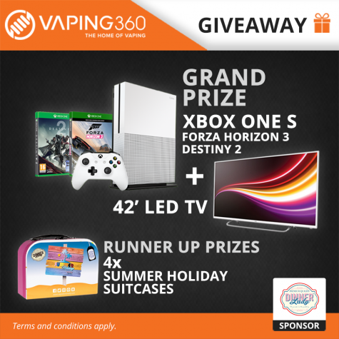 Win 42 LED TV XBOX One S gaming console and more - Vaping360