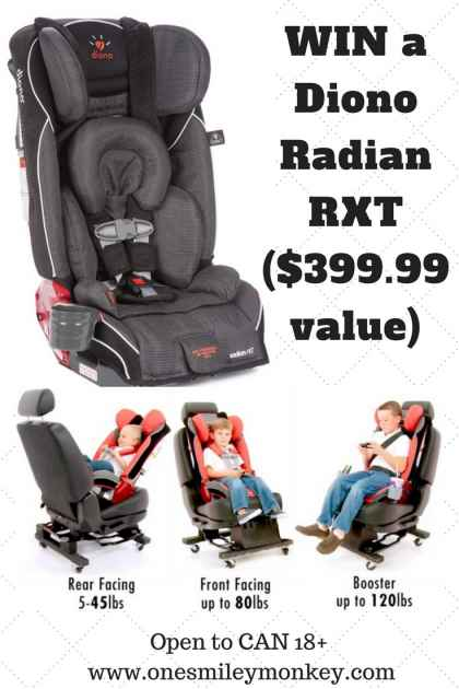 Diono RTX Car Seat Giveaway - One Smiley Monkey