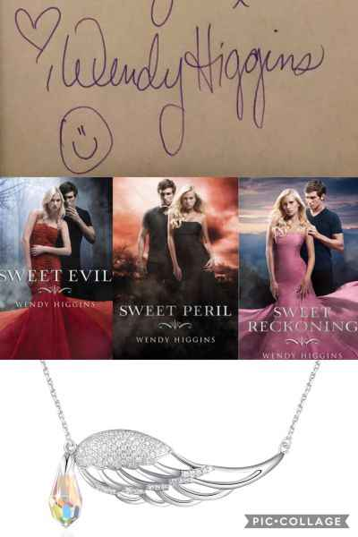 Sweet Trilogy by Wendy Higginsbook 3 and Signed & an Angel Wing Necklace - Carly Marino
