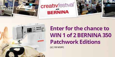 Win 1 of 2 BERNINA 350 Patchwork Editions - BERNINA