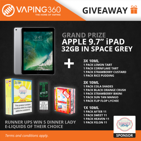 Win Apple iPad 9.7″ tablet and more - Vaping360