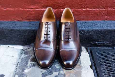 Paul Evans Cagney Cap-Toe Oxford in Chocolate - PaulEvansNY