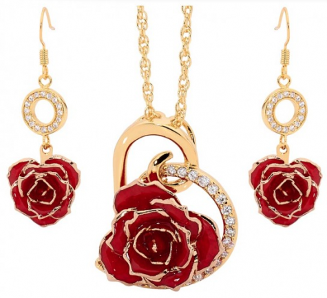 Red Heart Themed Pendant & Earring Set WW 11/10 - Making of A Mom
