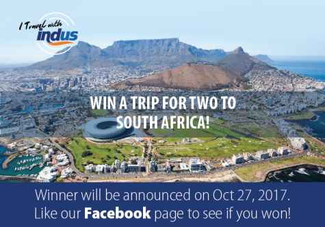 WIN A TRIP FOR TWO TO SOUTH AFRICA - Indus Travels