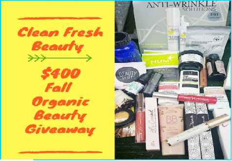 Win $400 Worth of Organic Makeup and Skin Care Products - CleanFreshBeauty
