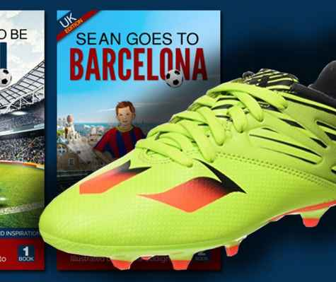 Win kids soccer cleats and books Value $200 - Sean Wants To Be Messi