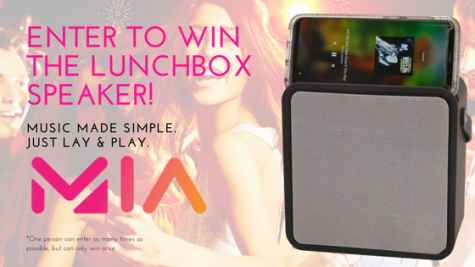 Win the MIA Sound Lunchbox Speaker With Wireless Phone Charger - MIA Sound