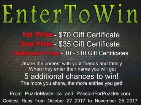 Win a $70 Gift Certificate From Puzzlemaster.ca - Passion for Puzzles