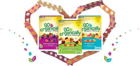 Go Organically® Fruit Snacks GO Gives Back Sweepstakes Giveaway - Go Organically