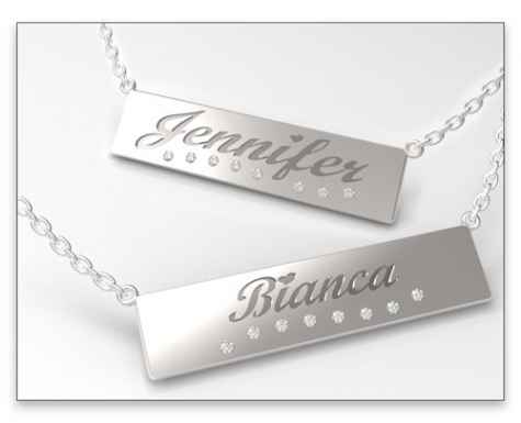 Win A $250 Customized Silver Nameplate Necklace - Novell Custom Shop