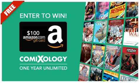 Win a $100 Amazon Gift Card And 1 Year Of Comixology Unlimited - Wannabe Press