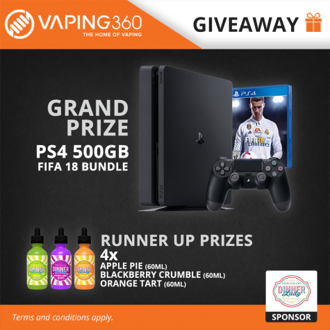 Win Sony PlayStation 4 gaming console with FIFA 18 bundle - Vaping360