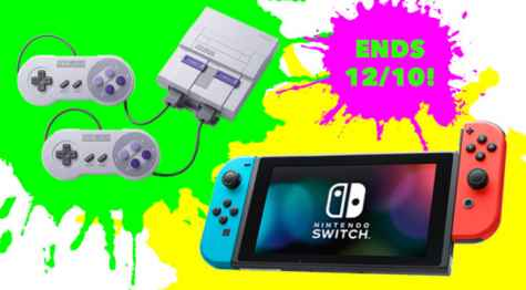 Nintendo Switch or SNES Classic Mini Giveaway - saveatooth.com