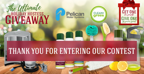 Pelican Water & Clean+Green Ultimate Holiday Hostess Giveaway - Pelican Water Systems