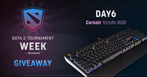 Win a Corsair Straife RGB Gaming Keyboard for Day 6 of FirstBloods Tournament Week - Firstblood