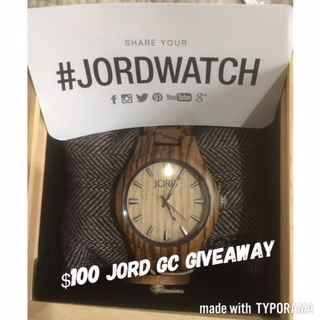 Sonyas Happenings... Jord Watch $100 GC - Jord Watch