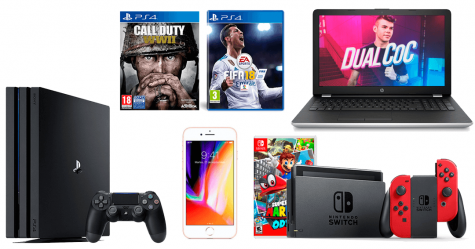 Win HP laptop Sony PS4 Pro Nintendo Switch console Apple iPhone and more - ReyesdelChollo