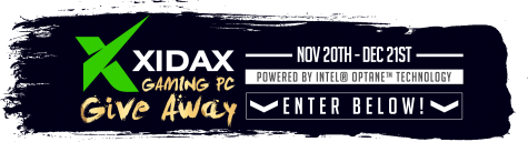 Xidax PC featuring Intel® Optane™ Memory Holiday Giveaway! - Xidax